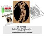 Golfer Tee Off Silhouette Downloadable Scrollsawing Pattern