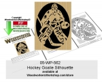 Hockey Goalie Silhouette Downloadable Scrollsawing Pattern