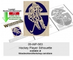 Hockey Player Silhouette Downloadable Scrollsawing Pattern