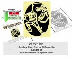 Hockey Hot Shots Silhouette Downloadable Scrollsawing Pattern