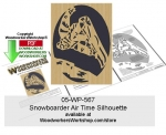Snowboarder Air Time Silhouette Downloadable Scrollsawing