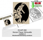 Soccer Player Downloadable Scrollsawing Woodcraft Pattern