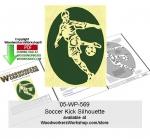 Soccer Kick Downloadable Scrollsawing Woodcraft Pattern PDF woodworking plan
