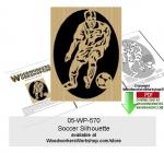 Soccer Downloadable Scrollsawing Woodcraft Pattern PDF woodworking plan