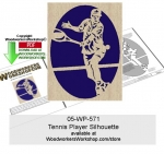 05-WP-571 - Tennis Player Scrollsawing Woodworking Downloadable Pattern PDF