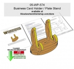 05-WP-574 - Business Card Holder Scrollsawing Woodworking Pattern Downloadable PDF