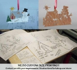 Christmas Happy Snowman Downloadable Scrollsaw Woodworking Plan