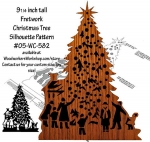 Christmas Tree Fretwork Scrollsaw Downloadable Woodworking Plan