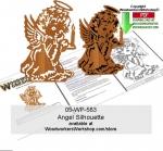 Angel Silhouette Downloadable Scrollsawing Pattern