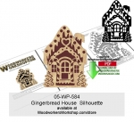 05-WP-584 - Gingerbread House Silhouette Downloadable Scrollsawing Pattern PDF