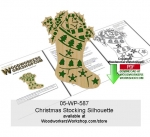 05-WP-587 - Christmas Stocking Silhouette Downloadable Scrollsawing Pattern PDF