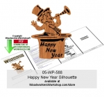 05-WP-588 - Happy New Year Silhouette Downloadable Scrollsawing Pattern PDF