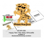 05-WP-589 - Happy New Year Baby Silhouette Downloadable Scrollsawing Pattern PDF