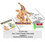 Happy New Year Baby Silhouette Downloadable Scrollsawing Pattern