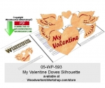 fee plans woodworking resource from WoodworkersWorkshop� Online Store - Valentines Day,hearts,doves,stencils,templates,scrap wood projects,downloadable PDF,tole painting wood crafts,scrollsawing patterns,4-H Club,4H projects,scouts,girl guides,drawings,Accents In Pine,woo