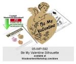 05-WP-592 - Be My Valentine Scrollsawing Woodworking Pattern Downloadable PDF
