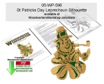 05-WP-596 - St Patricks Day Silhouette Scrollsawing Pattern Downloadable PDF