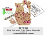 05-WP-599 - Little Bunny and Chick Basket Silhouette Pattern Downloadable PDF