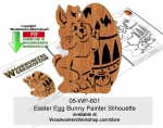 Easter Egg Bunny Painter Silhouette Woodcraft Pattern Downloadable
