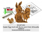 Easter Egg Hunt with Bunny and Chick Silhouette Downloadable