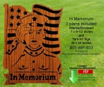 In Memorium Scrollsaw Intarsia Yard Art Woodcrafting Pattern