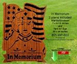In Memorium Scrollsaw Intarsia Yard Art Woodcrafting Pattern