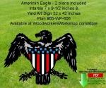 American Eagle Yard Art and Intarsia Scrollsaw Woodworking Pattern