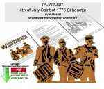 4th of July Spirit of 1776 Silhouette Wood Pattern Downloadable
