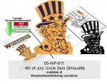 05-WP-611 - 4th of July Uncle Sam Silhouette Woodcraft Pattern Downloadable PDF