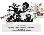 Spooky Tree Halloween Silhouette Downloadable