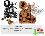 fee plans woodworking resource from WoodworkersWorkshop� Online Store - happy halloween,spooky houses,bats,flying witches,moonlight,stencils,templates,scrap wood projects,downloadable PDF,tole painting wood crafts,scrollsawing patterns,4-H Club,4H projects,scouts,girl gui