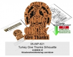 Turkey Give Thanks Scrollsawing Woodworking Pattern Downloadable