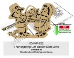 Thanksgiving Gift Basket Silhouette Scrollsaw Pattern Downloadable