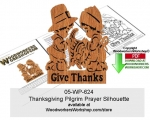 05-WP-624 - Thanksgiving Pilgrim Prayer Silhouette Scrollsaw Downloadable PDF