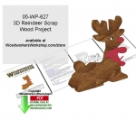 3D Reindeer Downloadable Scrollsaw Woodcrafting Pattern