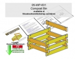 05-WP-631 - Compost Bin Woodworking Plan Downloadable PDF