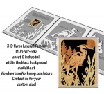 3-D Heron Layered Silhouette Downloadable Scrollsaw Woodworking Plan