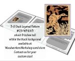 3D Duck Layered Silhouette Downloadable Scrollsaw Woodworking Plan