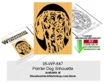 Pointer Dog Silhouette Scrollsaw Woodworking Pattern Downloadable