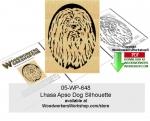 Lhasa Apso Dog Silhouette Scrollsaw Woodcraft Pattern Downloadable