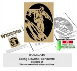 05-WP-649 - Skiing Downhill Scrollsawing Woodworking Downloadable Pattern PDF