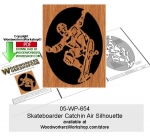 Skateboarder Catchin Air Scrollsawing Woodworking Pattern