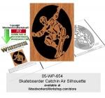Skateboarder Catchin Air Scrollsawing Woodworking Pattern PDF woodworking plan