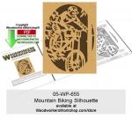 Mountain Biking Scrollsawing Woodworking Pattern Downloadable