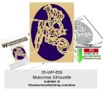 Motocross Scrollsawing Woodworking Pattern Downloadable