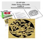 Water Skiing Scrollsawing Woodworking Pattern Downloadable
