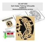 Salt Water Fishing Scrollsawing Woodworking Pattern Downloadable