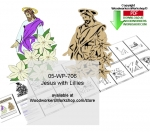Jesus with Lillies Yard Art Downloadable Woodcrafting Pattern