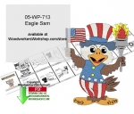 Eagle Sam Patriotic Yard Art Woodworking Pattern