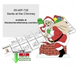 05-WP-726 - Santa at the Chimney Downloadable Yard Art Woodcrafting Pattern PDF